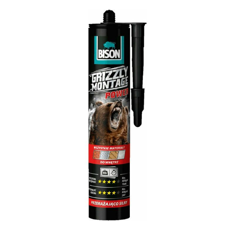 Bison Universal Silicone Sealant Montage Power White 370gr